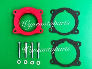 RED Throttle Body Spacer For PONTIAC G6, G8, TORRENT/ 08-13 GMC ACADIA V6 3.6L