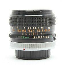 Canon FD 28mm f2.8 S.C. Manual Focus Lens #31848
