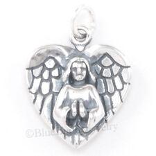 3D GUARDIAN ANGEL Charm Praying WINGS Pendant 925 Sterling Silver bin in store