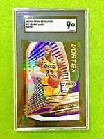 LEBRON JAMES PRIZM CARD JERSEY #23 LAKERS GRADED SGC 9 MINT  2019-20 Revolution