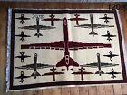 •120• Beautifully Handmade Genuine Afghan Drone War Rug, 140x94 cm