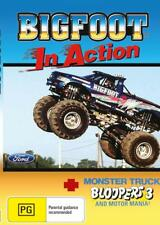 BIGFOOT IN ACTION & MONSTER TRUCK BLOOPERS - DVD - FREE LOCAL POST
