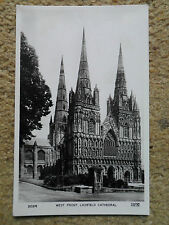 FRITH'S SERIES POSTCARD.REAL PHOTO.WEST FRONT LICHFIELD CATHEDRAL