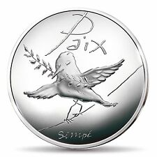 France 2014 Peace Doves Silver 50 Euro République Sempé Paix BOTH Season's Coins