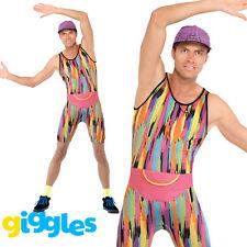 Adult Mens Mr Energizer 80s 90s Fitness Motivator Retro Icon Fancy Dress Costume
