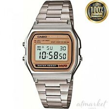 CASIO A-158WEA-9JF wrist watch standard Silver Band Men's from JAPAN NEW