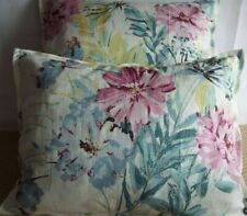PAIR OF 15 X 20 INCH BOSTER CUSHIONS FOR £8.99 PINK,CREAM AND WINE