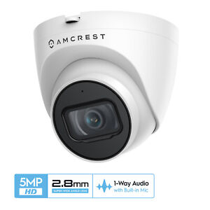 Amcrest UltraHD 5MP Turret PoE Dome Outdoor Security IP Camera IP5M-T1179EW-28MM