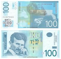 Serbia 100 Dinara 2006 P-49r Replacement Banknotes UNC Scarce