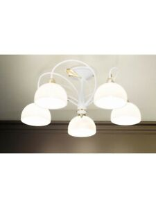 Ceiling From Ceiling Modern Design White And Gold 5 Lights Dese-227