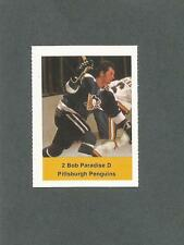 1974-75 Acme Loblaws Hockey Bob Paradise Pittsburgh Penguins