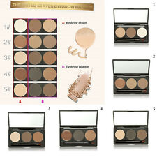 3 Color Makeup Eyebrow Powder Palette Eye Brow Shading Kit with Brush Mirror Kit