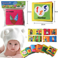 Infant Baby Kid Intelligence Development Cloth Book Cognize Educational Toy LJ