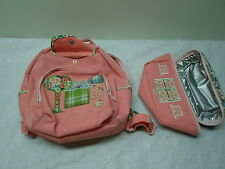 Baby Gap Pink Bag and Pouch with compartments, used, Has stain