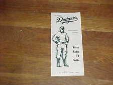1969 Los Angeles Dodgers Baseball Media Guide