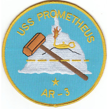 """5"""" USS NAVY AR-3 PROMETHEUS EMBROIDERED PATCH"""