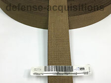 1.5 INCH MilSpec Military Webbing MIL-AA-55301 T/6 COYOTE (MARPAT) Per Yard