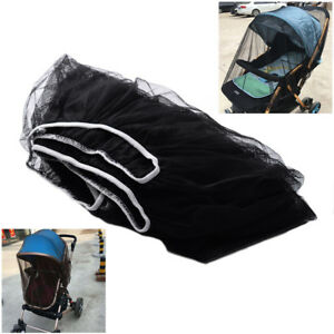Black Infants Baby Stroller Elasticated Mosquito Net Cover Mesh Bee Insect Bug