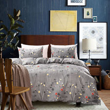 Flower Print Queen King Twin Bedding Set Soft Duvet Cover Pillowcases Comforter