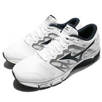 Mizuno Synchro MD 2 II White Black Men Running Shoes Sneakers J1GE17-1818