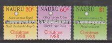 (K202-73) 1988 Nauru set of 3stamps Christmas (Cu)