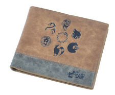 Seven Deadly Sins Coin Wallet Short Bifold Purse Cosplay Collection Gift
