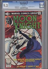 Moon Knight #9 CGC 9.2  Marvel: 1981 Marvel Comic: Price Drop!