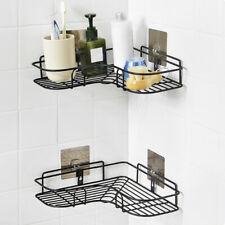 Triangular Shower Caddy Shelf Bathroom Corner Bath Storage Holder Organizer Rack