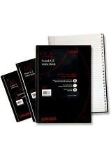Concept A4 A-Z Tabbed Address Index Book Hardback Paper Black Notebook Organiser