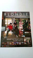 Blondie Greatest Hits,Sound & Vision 2006 Rare Original Print Promo Poster Ad