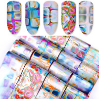 Foils Finger Nail Art Glitter Sticker Decal Water Transfer Stickers Tips Decor