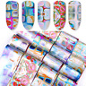 Foils Finger Nail Art Glitter Sticker Decal Water Transfer Stickers Tips Decor