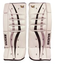 New Vaughn 700 Goal ice hockey leg pads 20 Black/Silver Velocity V6 youth goalie