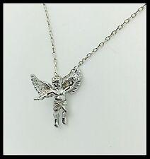 Handmade 18k. White Gold Cupid Pendant, Love Gift