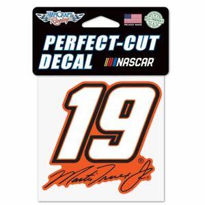 Martin Truex Jr 2021 Wincraft #19 Perfect Cut Decal 4x4 FREE SHIP!