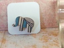 Elephant Wood Brooch, Mini animal brooch, nature gift, wooden jewellery TurquoiG