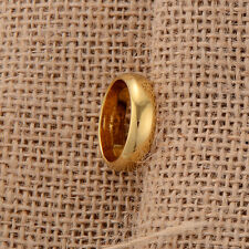 yellow gold filled smooth ring size 9 mens rings wedding band 18k vintage
