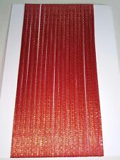 5M 3mm Thin Red Gold Satin Ribbon Card Making Scrapbooking Home Decor Art Craft