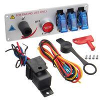 12V Racing Car Toggle Ignition Switch Panel LED Push Button Starter Engine Start