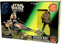 Star Wars Luke Skywalker Action Figure in Endor Gear with Speeder Bike 1996- New