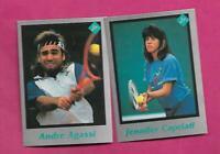 RARE ANDRE AGASSI + JENNIFER CAPRIATI TENNIS PLAYER  CARD (INV# C3857)
