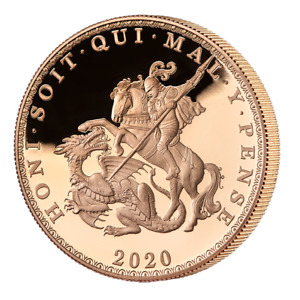 2020 FIVE SOVEREIGN GOLD PROOF COIN Only 150 Worldwide