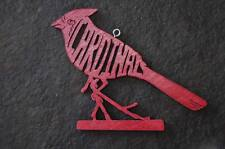 Red Cardinal Bird Christmas Ornament Gift Tag   Hand Made USA