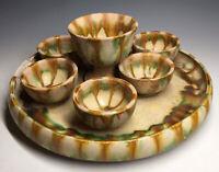RARE Antique Chinese Tang Dynasty Wine San Cai Set Sancai Henan Earthenware