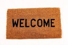 Welcome Natural Coco Coir Doormat, 16 by 27 by 1-Inch
