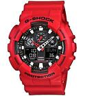 Mens Quartz G-Shock Red Water Resistant Casio GA100B/4A Watch GA-100B-4AER New