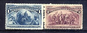 US Stamps - #230-231 - MNH - 1-2 cent 1893 Columbian Expo Issues - CV $63