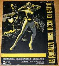 guida pubbl. orig. LA RAGAZZA DAGLI OCCHI DI GATTO Vera Tschechowa 1960