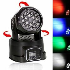 cc Testa Mobile Faro 18 Led DMX Luce Mini Beam Rgbw 4in1 Feste Palco Party hsb