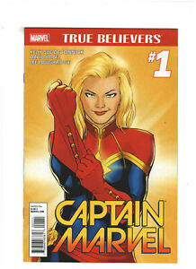 True Believers: Captain Marvel #1 NM- 9.2 Marvel Comics 2015